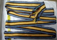 "Multiple color stripes 1-1/2"" qwide about 60"" Long"
